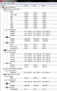MSI P67A-C45 (B3), i5-2500, 8GB, GTX 560, CorsAir 430W - komputer resetuje się