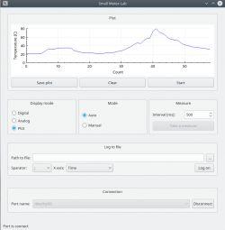 Small Metex Lab - aplikacja prezentująca wyniki pomiarów