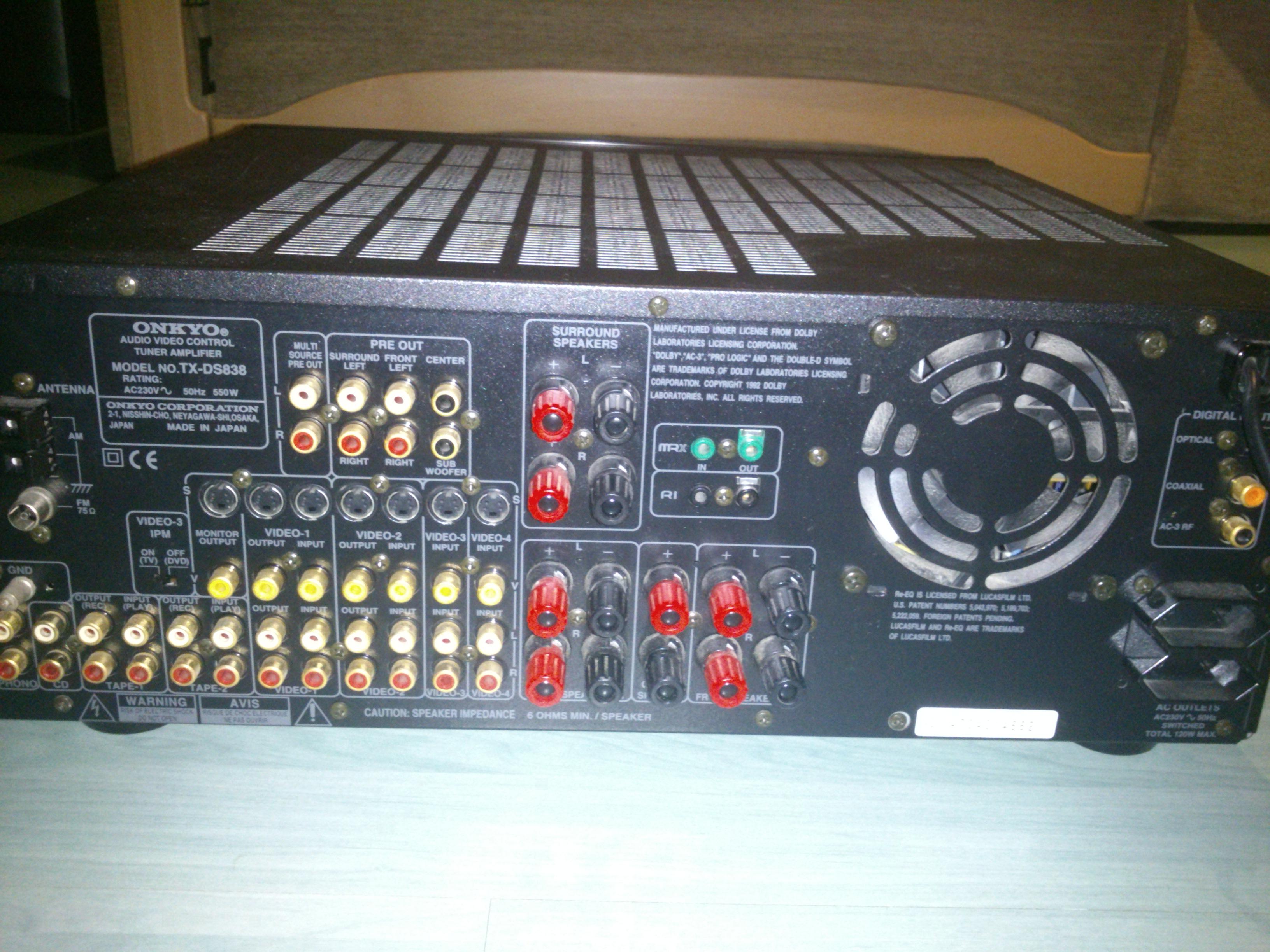 [Sprzedam] Amplituner ONKYO Integra TX-DS838 TANIO !!