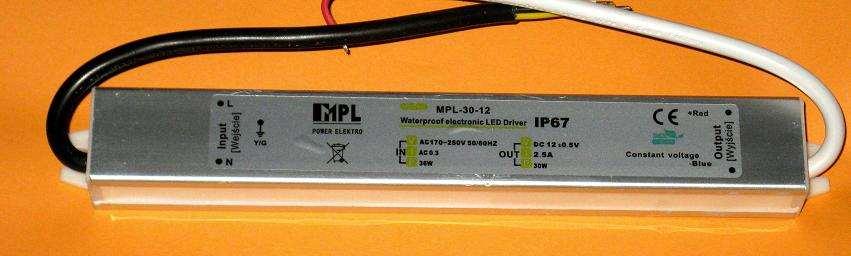 Mostkowanie 2 zasilaczy MPL-30-12, Ta�ma led, RGB.