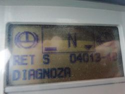 Man tga 460 rocznik 2003 na desce rozdzielczej wyskakuje błąd RET S 04001-10