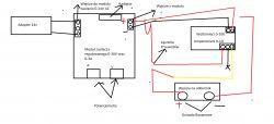 Podpięcie modułu ZASILAJĄCEGO 0-30V 0-3A