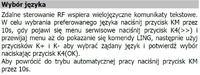 Zdalne sterowanie Open Therm menu PL.