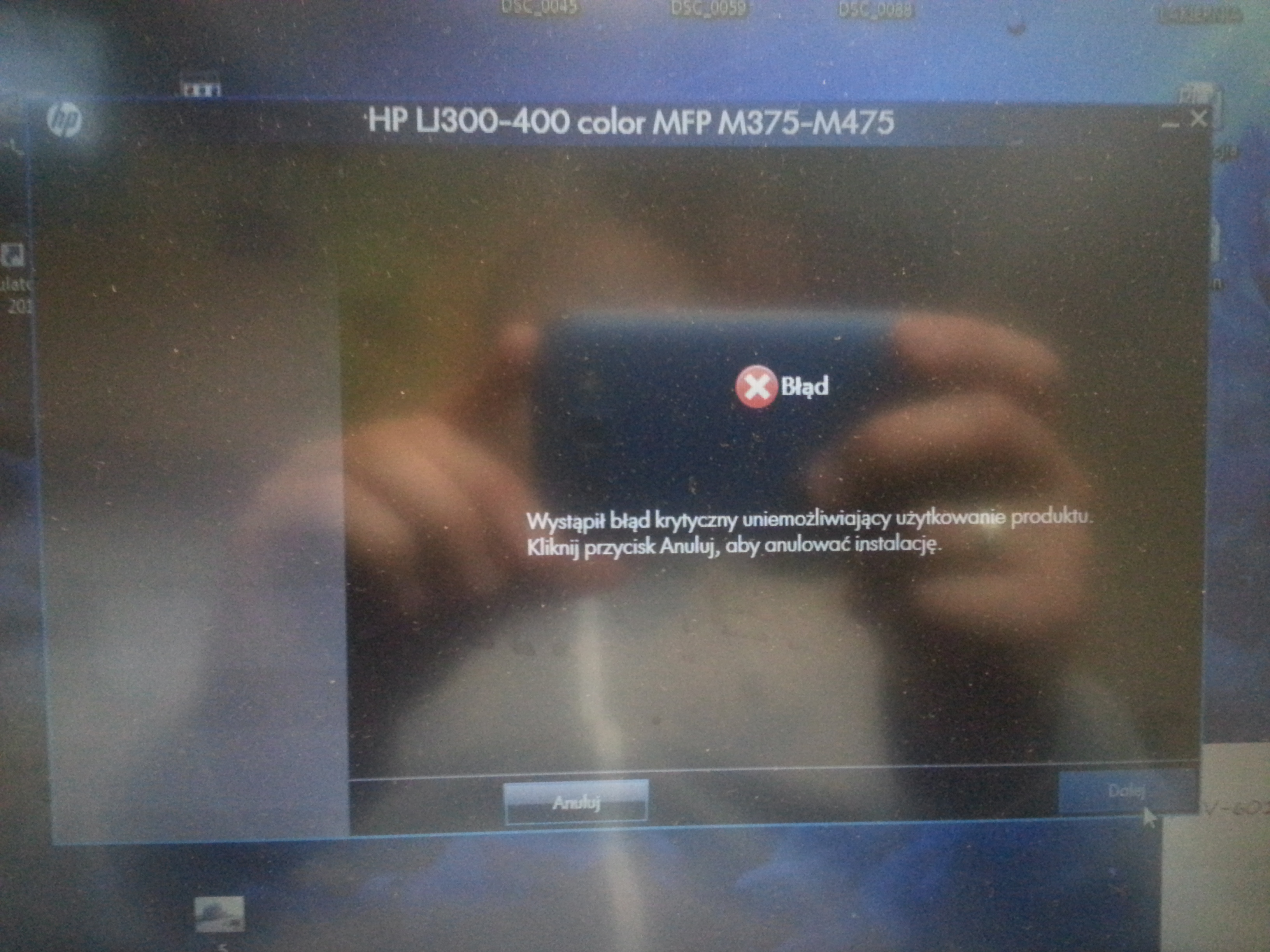 LaserJet 400 color mfp m475dn - Nie mog� zainstalowa� sterownika Windows 7 Prof