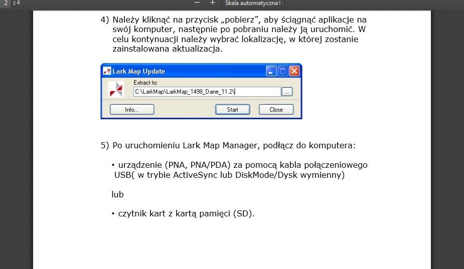 LARK FreeBird 43.3 - Aktualizacja systemu oraz map Larka