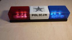 Światła policyjne z efektem strobo i dwutonową syreną - analogowa zabawka