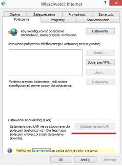 Nie moge wyłączyć proxy. Win 8.1