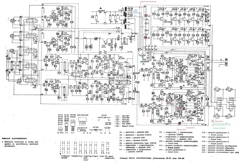 Diora WS442 zbyt niskie napięcia w punktach kontrolnych