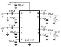 Wzmacniacz audio o mocy 5W na układzie TEA2025