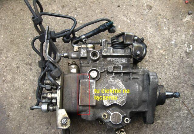 vw t4 pompa paliwowa cieknie