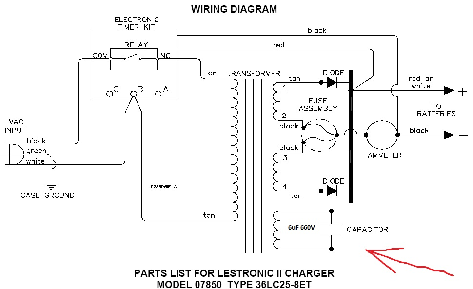 wiring diagram 36 volt powerwise charger lestronic 36 volt