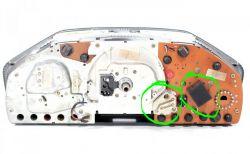 Mercedes w124 - Rezystory zamiast żarówek zegarów