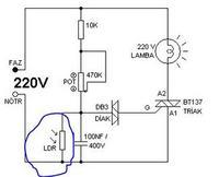 Modyfikacja schematu ściemniacza żarówki
