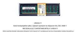 8GB RAM, 3,99 dostępne, Gigabyte g33m s2