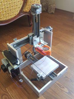 Mini frezarka/grawerka, Arduino+CNC shield, Estlcam V11