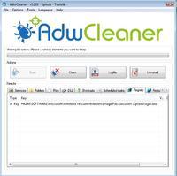 Brak możliwości usunięcia key'a w AdwCleaner