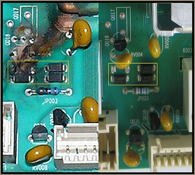 Indesit IWDC6105 - Identyfikacja uszkodzonego rezystora