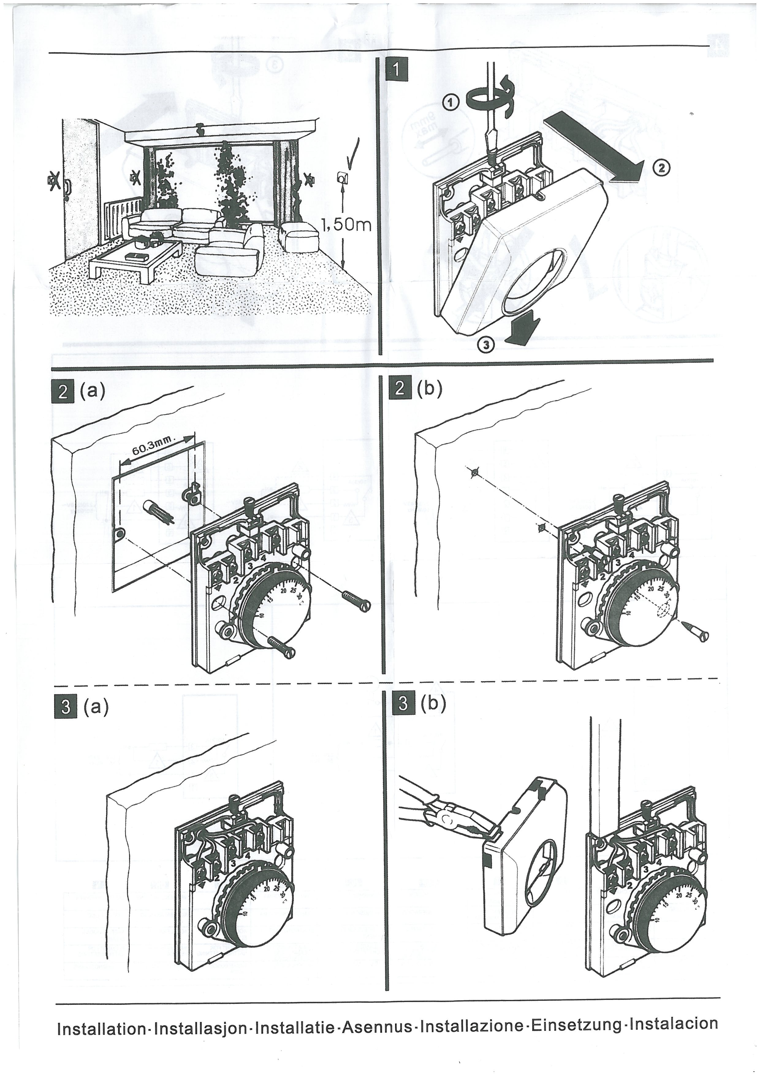 Podłączyć przewody termostatu