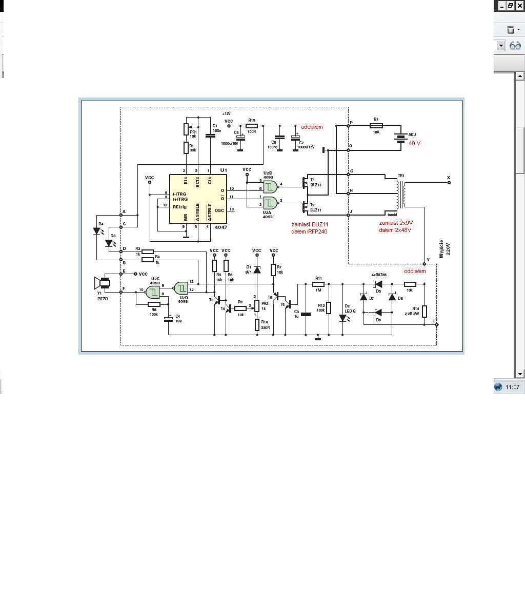 Przer�bka przetwornicy 12V/230 na  48V/230V