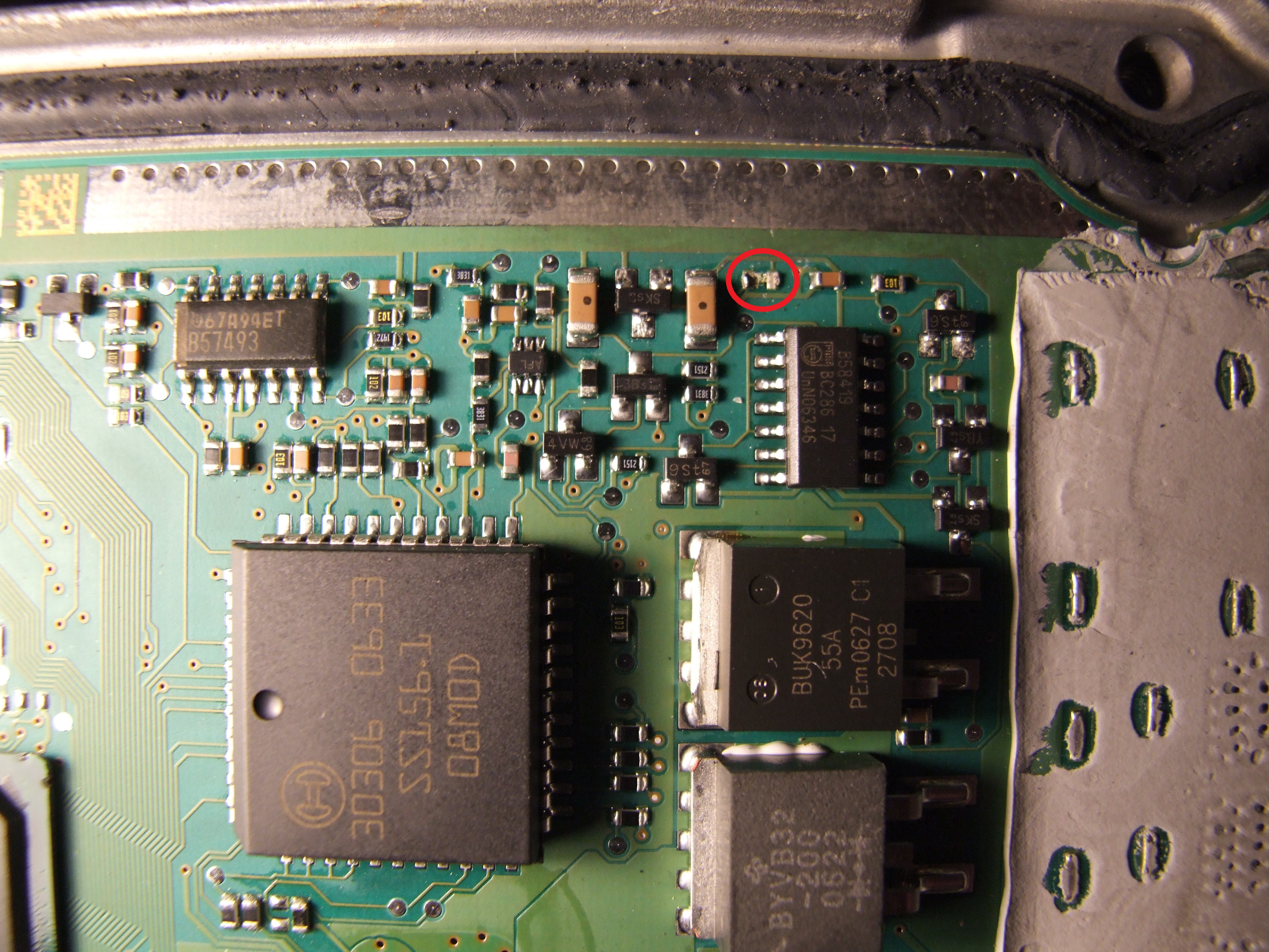 VW Caddy 2006r 1.9 TDI - Sterownik 03G 906 021 AQ - brakuj�cy element