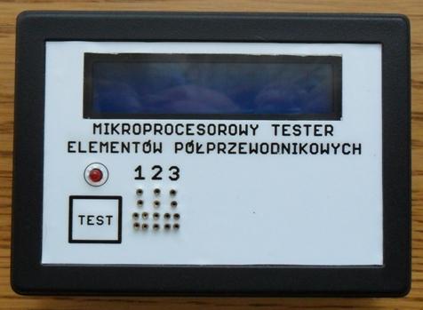 Mikroprocesorowy tester element�w p�przewodnikowych