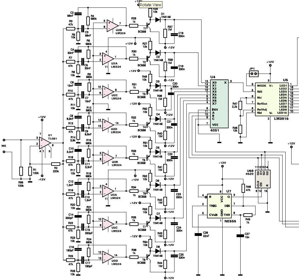 Analizator widma sygnału. Więcej niż 10 pasm. Konstrukcje filtrów.