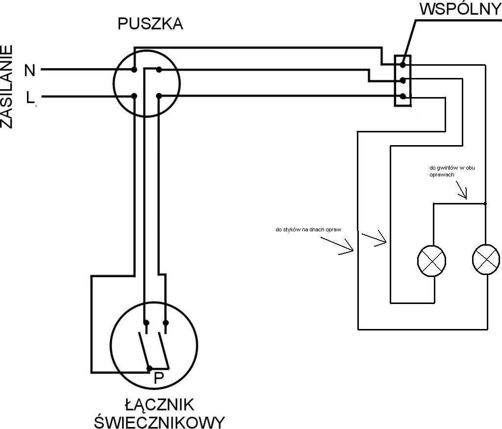 Podlaczenie Dwoch Lamp Na Podwojny Wlacznik Problem