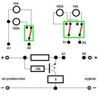 dwa amperomierze - jak zrobić auto przełącznik zakresu?