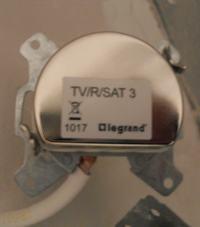 Gniazdo RTV-SAT przelotowe - końcowe
