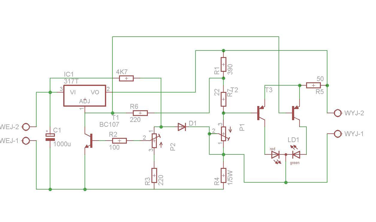 �adowarka  akumulatork�w  z p�ynn� regulacj� - LM 317