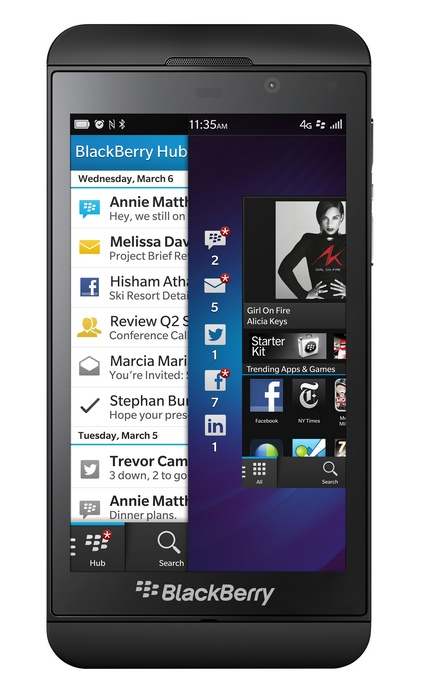 BlackBerry Z10 - BB10, SnapDragon S4 Plus, LTE i 4.2-calowy wy�wietlacz IPS