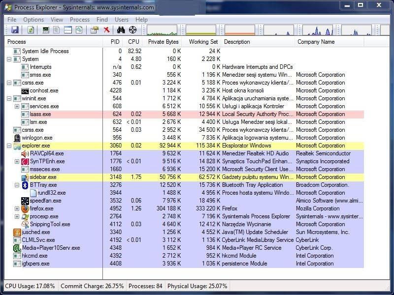 Samsung RC520 - Win 7 64bit po czasie 'za du�o' u�ywa procesora