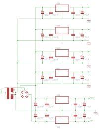 Prośba o sprawdzenie schematu zasilacza: 24V, 18V, -+15V, 12V, 9V