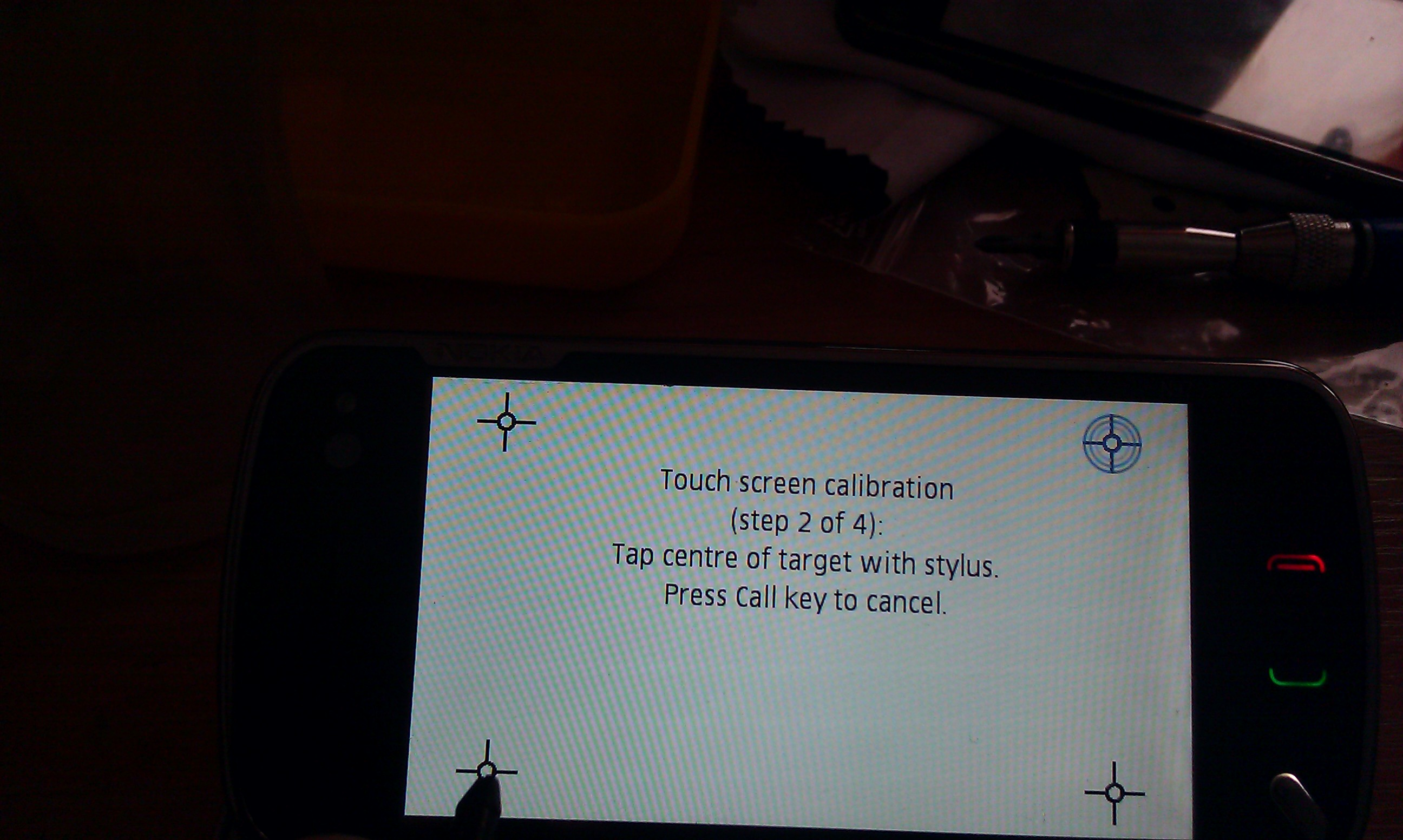 Nokia N97 - nie mo�na skalibrowa� ekranu dotykowego