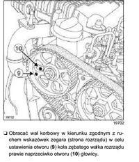 renaul megane II 1.5dCi - ustawienie rozrządu
