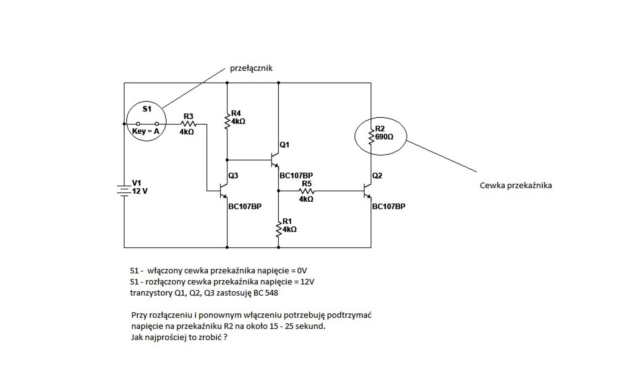 Tranzystorowe sterowanie przeka�nika - jak zrobi� op�nienie wy��czania