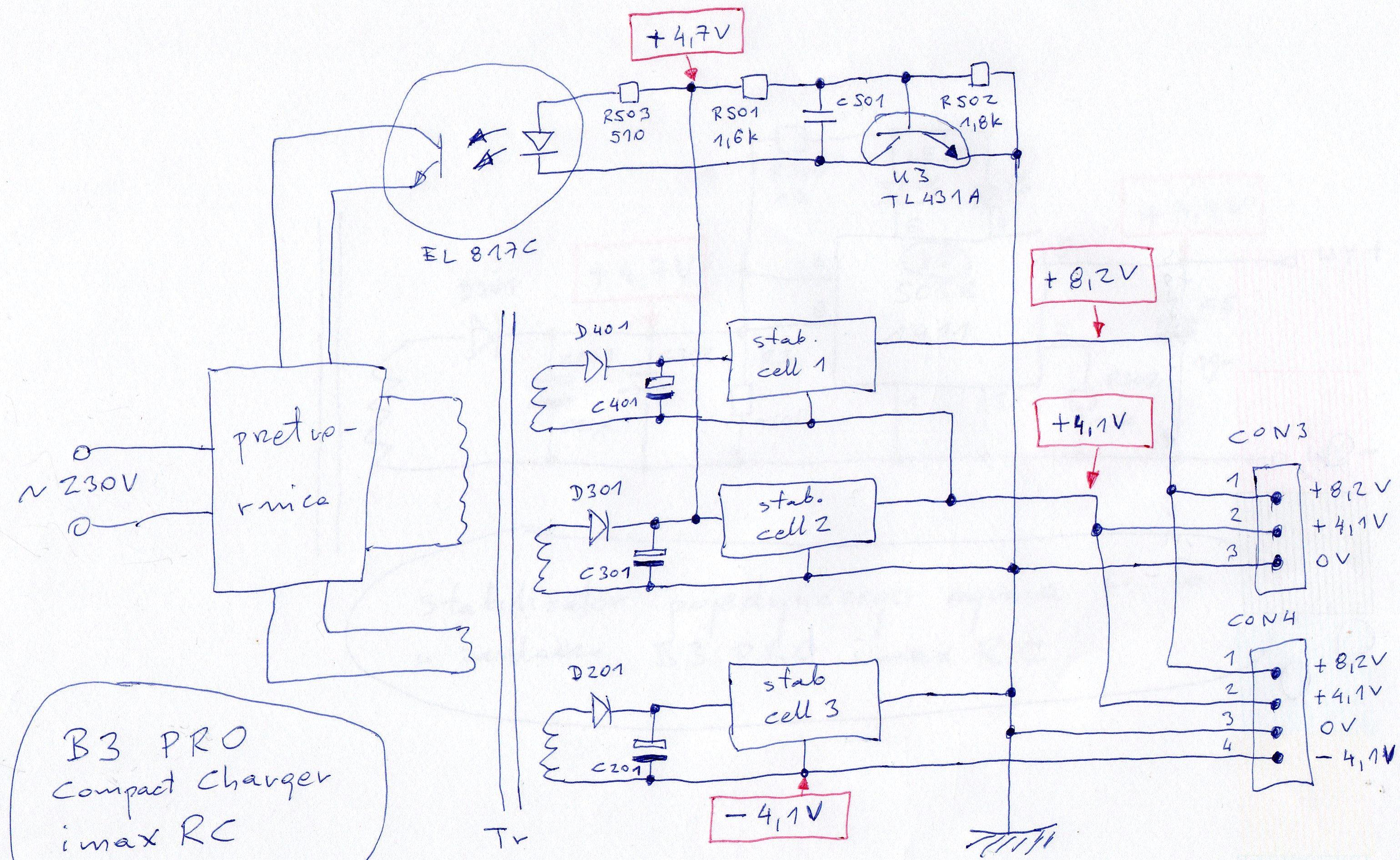 B3 PRO Compact Charger imax RC - naprawa