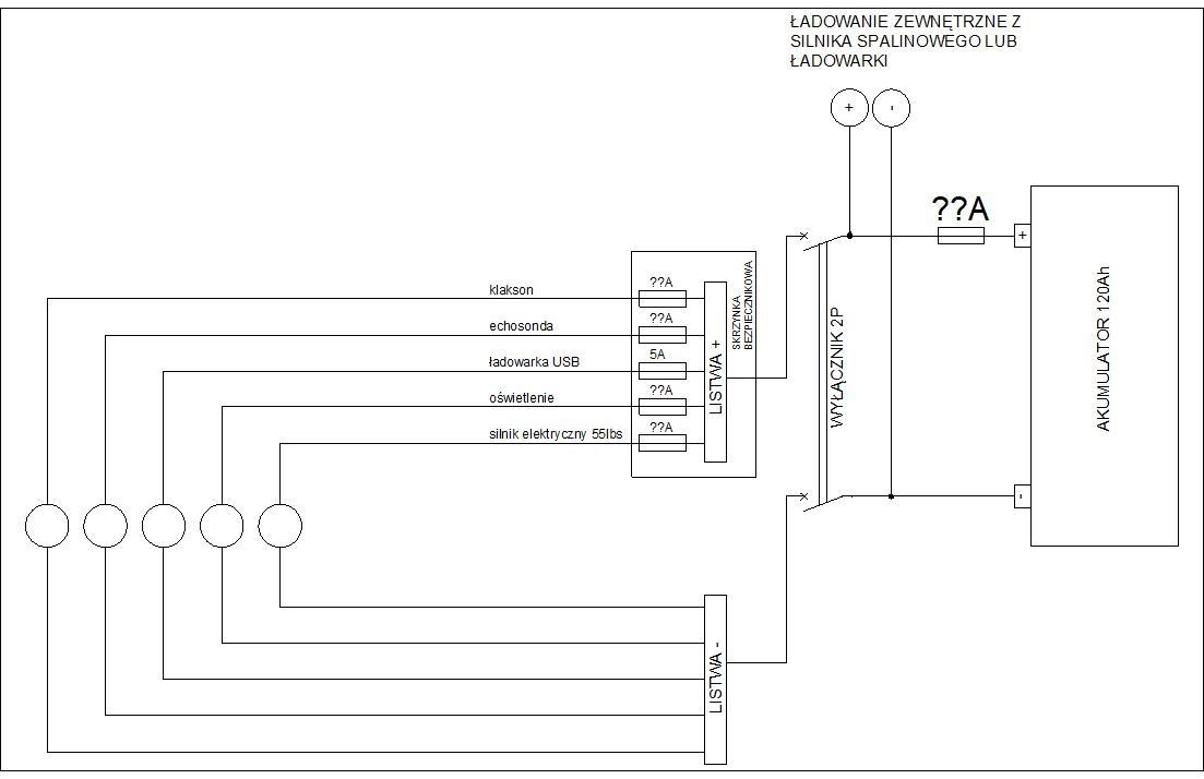 Schemat Instalacji Elektrycznej Na łodzi Wędkarskiej