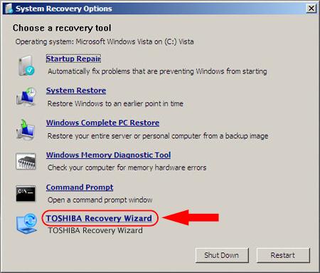 Toshiba satellite A300 - Vista - Jak odzyskać dostęp do System Recovery z HDD?