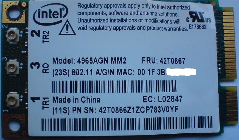Intel 4965agn - (Kod10)Nie mo�na uruchomi� tego urz�dzenia- po zmianie karty