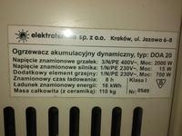 Sterowanie piecem akumulacyjnym dynamicznym elektrotermia