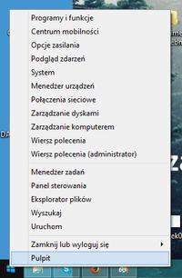 Windows 8 - Brak ikonki MENU START