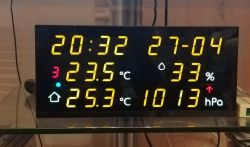 LED weather station with NTP clock and calendar
