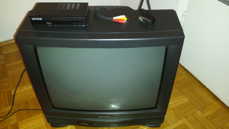 Sharp/Wiwa - Po��czenie dekodera STB z telewizorem CRT kablem EURO/3rca