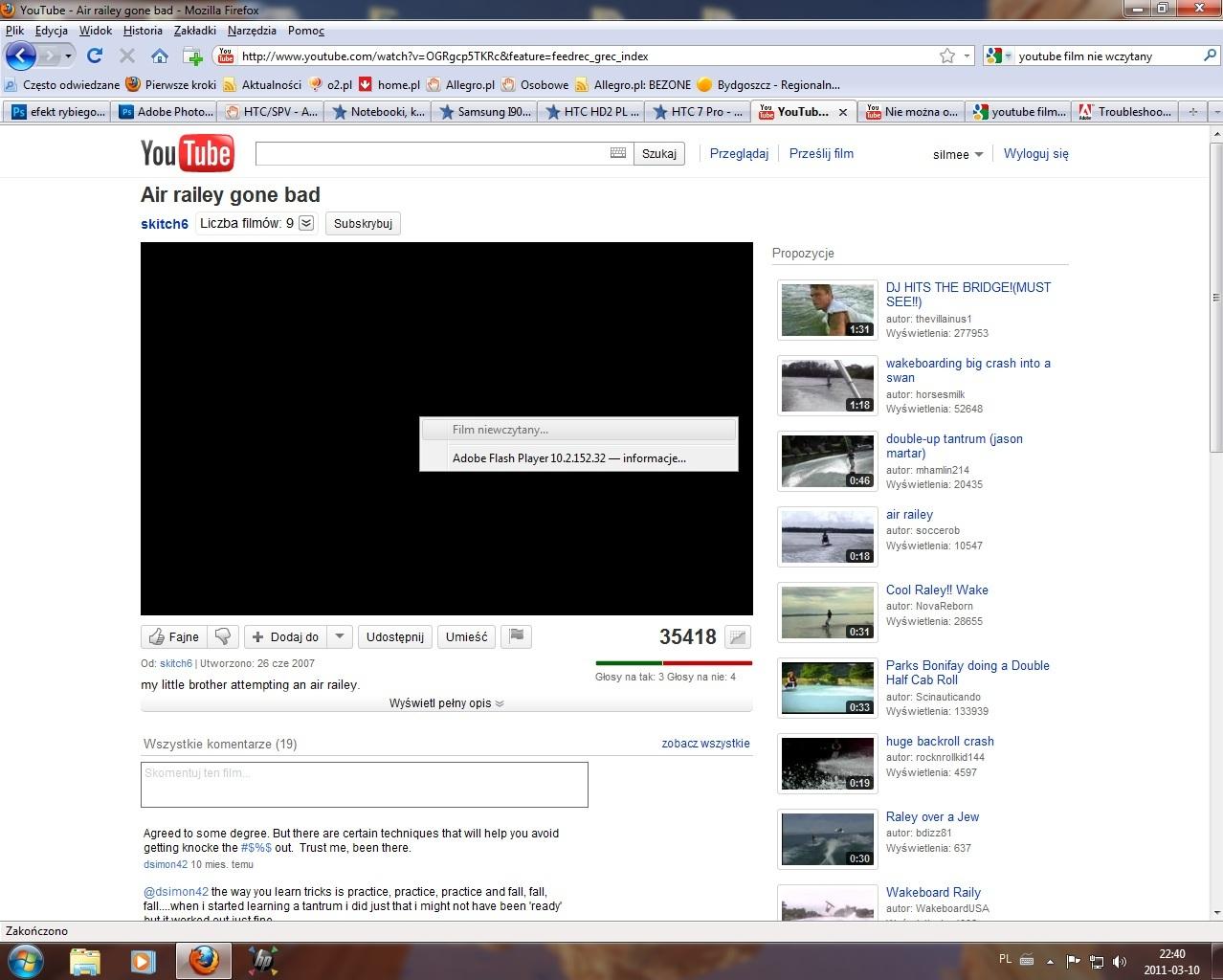 Mozzila Firefox 3.6.15 - Youtube