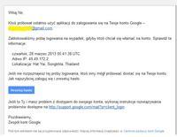 gmail - Podej�ana pr�ba logowanie gmail