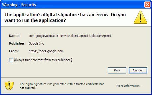 B��d certyfikatu GoogleDocs Mozilla Firefox