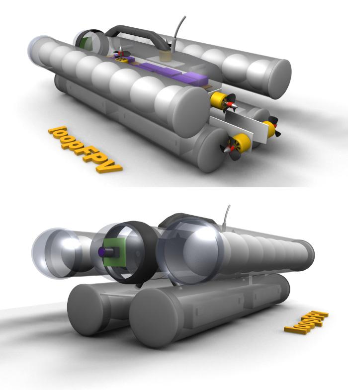 ROV podwodna kamera - loopFPV