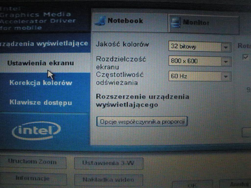 K�opoty z matryc� 1440x900 w HP NC6400