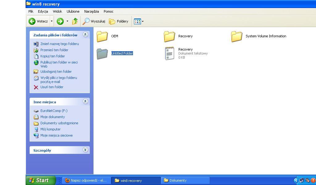 Acer Aspire E1-571G - Windows 8 nie uruchamia si�. Partycja Recovery.